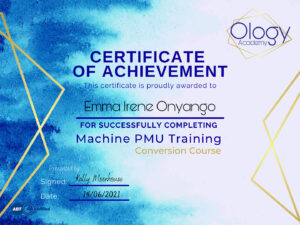 qualification certificate for Emma Grant